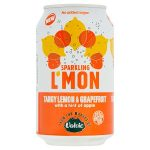sparkling lemon tangy lemon & grapefruit 330ml