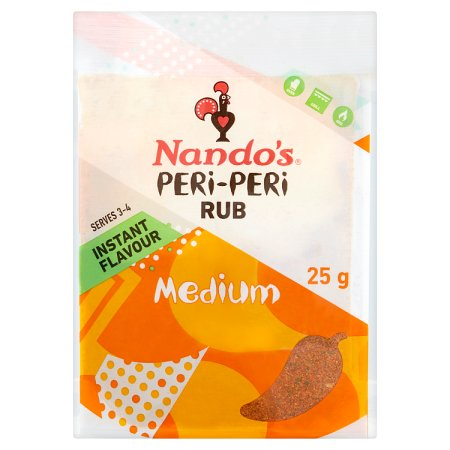 nandos medium peri peri rub 25g