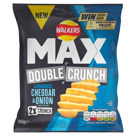 walkers max double crunch cheese & onion 50g