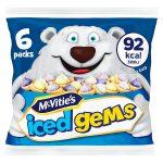 mcvities iced gems multibags 6x23g