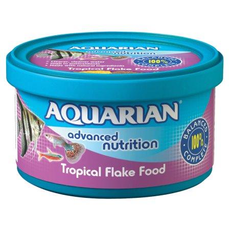 aquarian tropical fish flakes 13g
