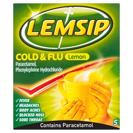 lemsip cold & flu lemon 5s