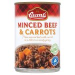grants minced beef & carrots 392g