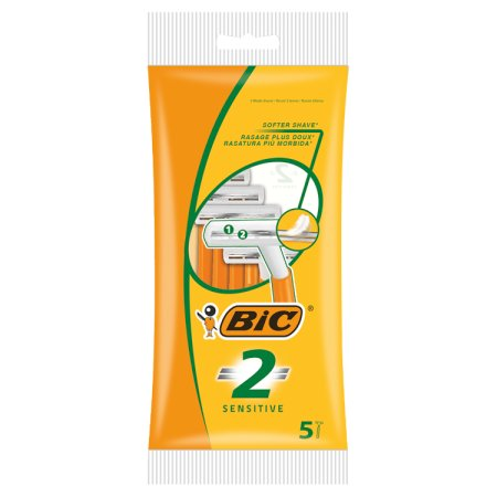 bic 2 sensitive razor 5 pack