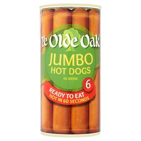 ye olde oak jumbo hot dogs giants tin 560g