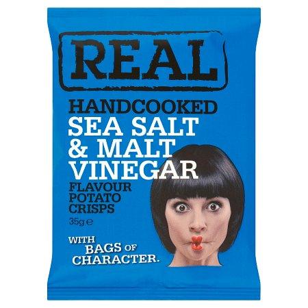 real crisp sea salt & malt vinegar 35g