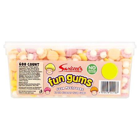 swizzel fun gum tub foam mushrooms 1p 600s