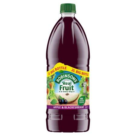 robinson fruit squash apple blackcurrant nas 2ltr