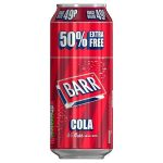 barr cola 49p 50% extra free cans 500ml