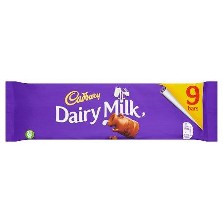 cadbury dairy milk (9pack) 263g