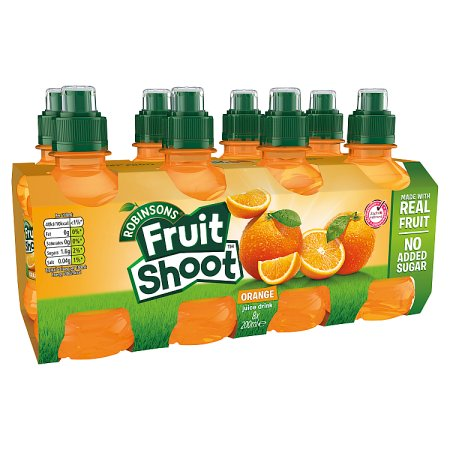 fruit shoot orange nas [8 pack] 8x200m