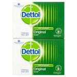 dettol antibacterial twin soap 2s
