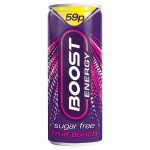 boost energy sugar free punch 59p 250ml