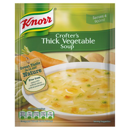 knorr 1.5pt crofters thick vegetable soup 75g 75g