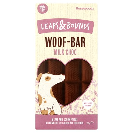 leaps & bounds woof bar milk chocolate 100g