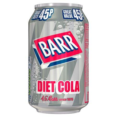 barrs diet cola 45p 330ml