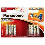 panasonic alkaline aaa [4+4 free] battery 8s