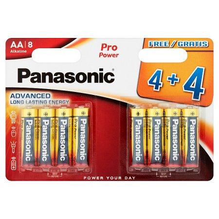 panasonic alkaline aa [4+4 free] battery 8s