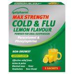 galpharm max strength cold & flu sachets 5s