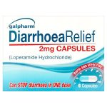galpharm diarrhoea relief 2mg capsules 6s