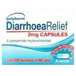 galpharm diarrhoea relief 2mg capsules 6s