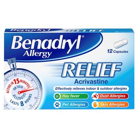 benadryl allergy 12s