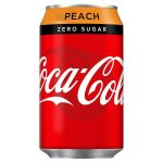 coke zero peach 55p 330ml