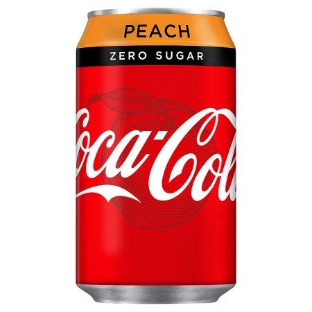coke zero peach 55p 330ml