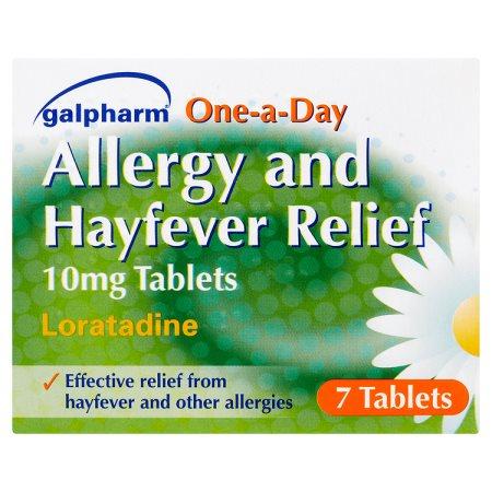 galpharm one day hayfever relief (loratadine) 7s