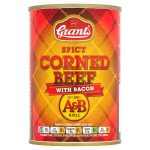 grants spicy corned beef & bacon a&b roll 392g