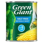 green giant salt free sweetcorn 198
