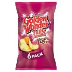 golden wonder smoky bacon [6 pack] 25g
